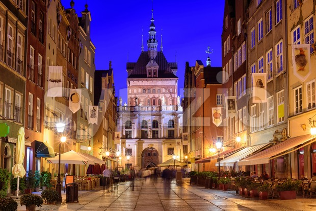 Golden Gate in the old town of Gdansk, Poland Stock Photo