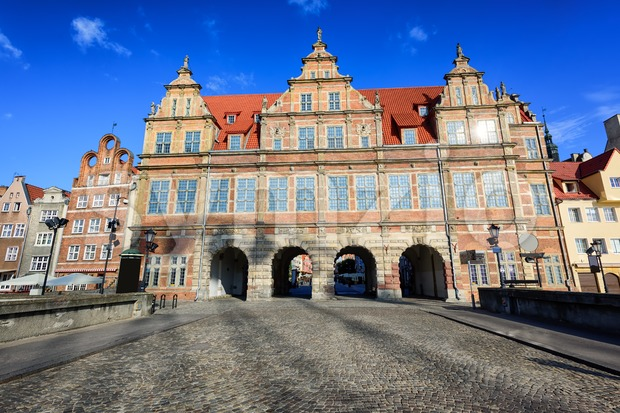 The Green Gate, Gdansk, Poland Stock Photo