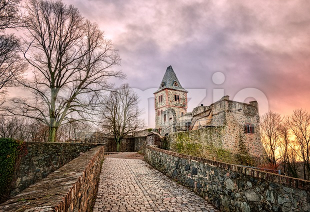 Castle Frankenstein in Odenwald, Darmstadt, Germany Stock Photo