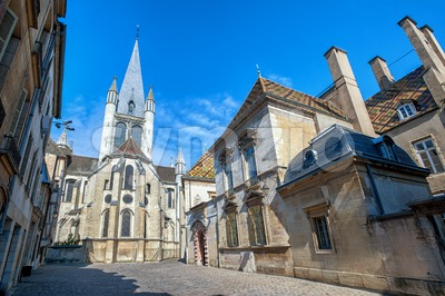 The Church of Notre-Dame of Dijon, Burgundy, France Stock Photo