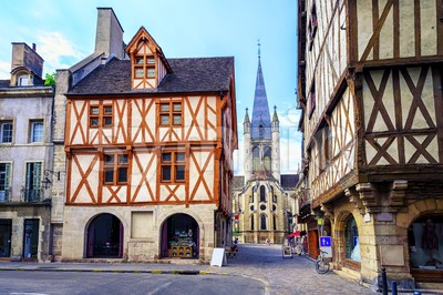 Old town of Dijon, Burgundy, France Stock Photo