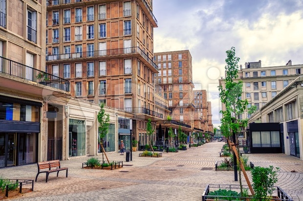 Central street of Le Havre, Normandy, France Stock Photo