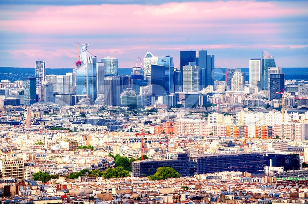 Skyline of La Defense, Paris, France Stock Photo