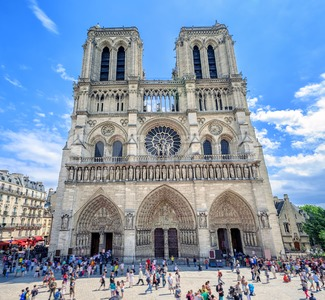 Gothic Cathedral Notre-Dame de Paris, France Stock Photo