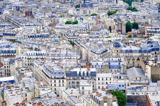 Old town of Paris, France Stock Photo