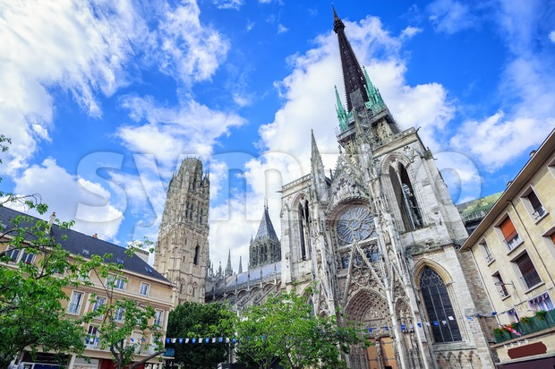Gothic cathedral of Rouen, Normandy, France Stock Photo
