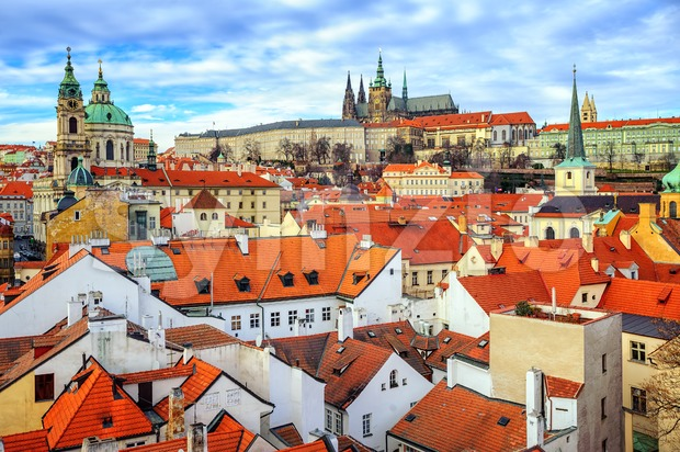 The Castle and old town of Prague, Czech Republic Stock Photo