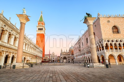 San Marco square and Doges Palace, Venice, Italy Stock Photo