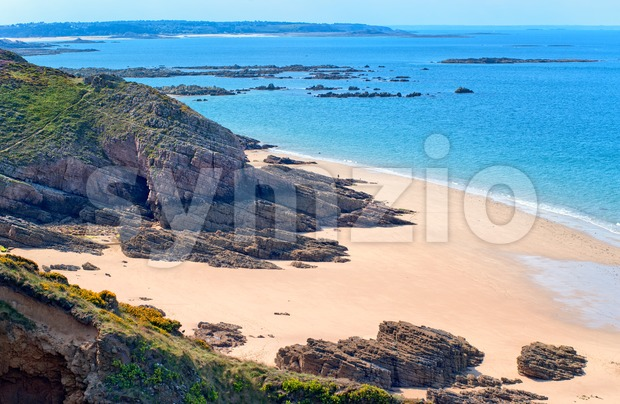 Sand beach, Brittany, France Stock Photo