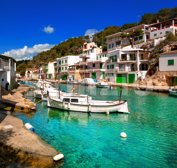 Fisherman village Cala Figuera, Mallorca, Spain Stock Photo