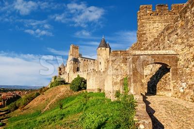 Cite de Carcassonne, Languedoc, France Stock Photo