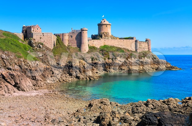 Fort La Latte, atlantic coast, Brittany, France Stock Photo