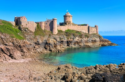 Fort La Latte, atlantic coast, Brittany, France Stock Photo