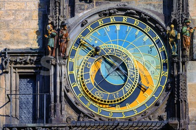 The astronomic clock Horologe in Prague, Czech Republic Stock Photo