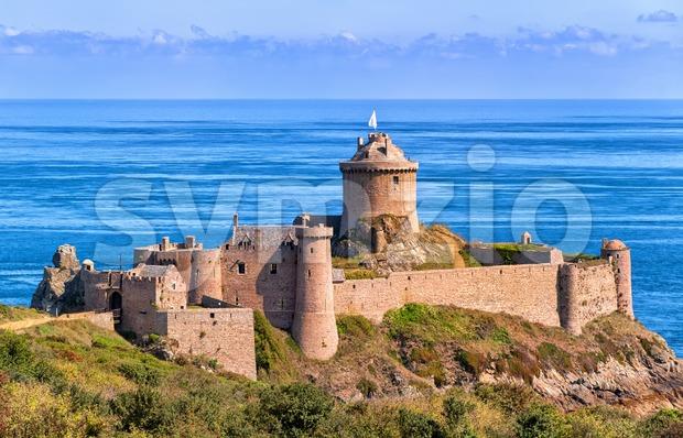 Fort La Latte, atlantic coast of Brittany, France Stock Photo