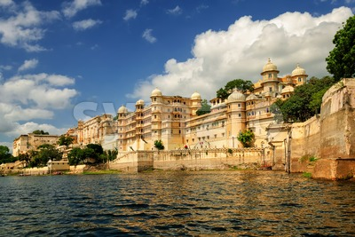 Maharaja's City Palace, Udaipur, India Stock Photo
