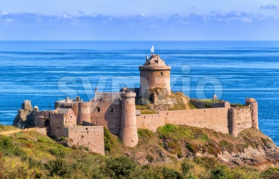 Fort La Latte, atlantic coast of Brittany, France Stock Photo