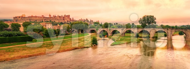 Cite de Carcassonne, Languedoc-Roussillon, France Stock Photo