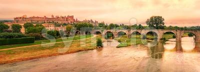 Cite de Carcassonne, Languedoc-Roussillon, France Stock Photo