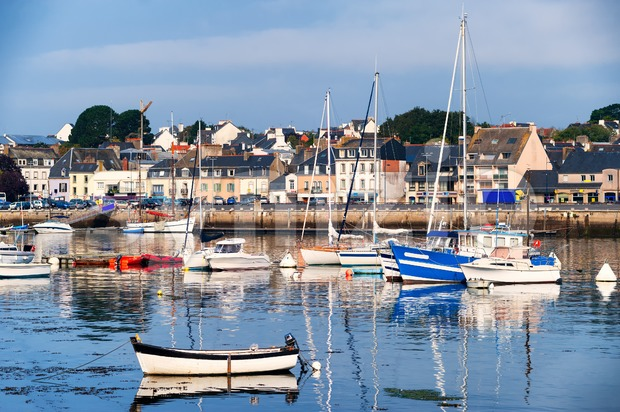 Port of Concarneau, Brittany, France Stock Photo