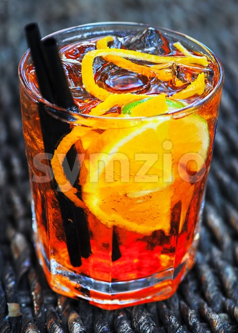 Glass ot the Aperol spritz, a very popular italian longdrink