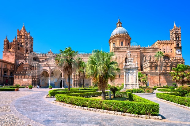 Cathedral of Palermo, Sicily, Italy Stock Photo
