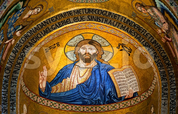 Jesus Christ mosaic icon Stock Photo