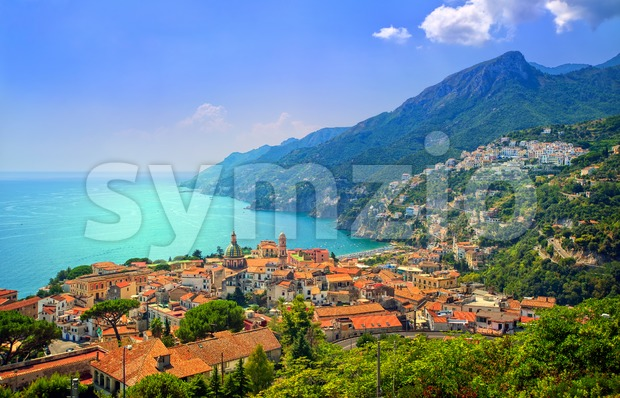 Salerno on Amalfi Coast south of Naples, Italy Stock Photo
