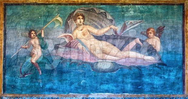 Venus fresco in the Temple of Venus, Pompeii, Italy Stock Photo