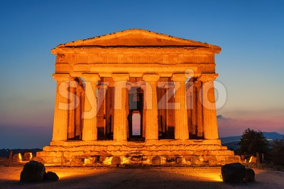 Temple of Concordia, Agrigento, Sicily, Italy Stock Photo