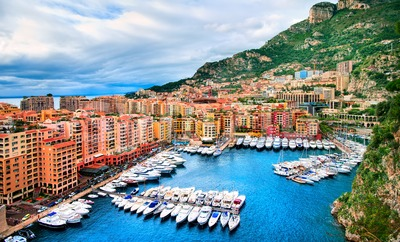 Port Fontveille, Principality of Monaco Stock Photo