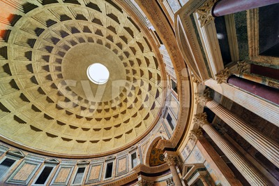 The Dome of Pantheon, Rome, Italy Stock Photo