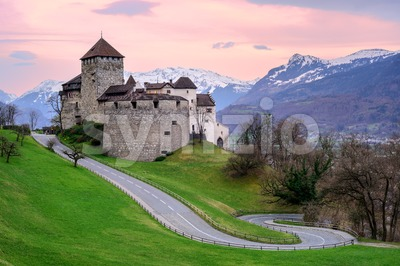 Vaduz Castle, the official residence of the Prince of Liechtenstein Stock Photo