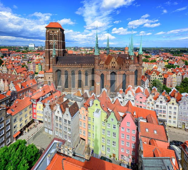 Saint Mary's Cathedral in the old town of Gdansk, Poland Stock Photo