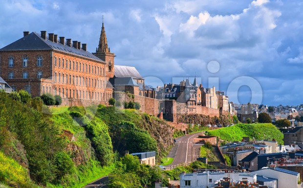 Granville, resort city on atlantic coast of Normandy, France Stock Photo