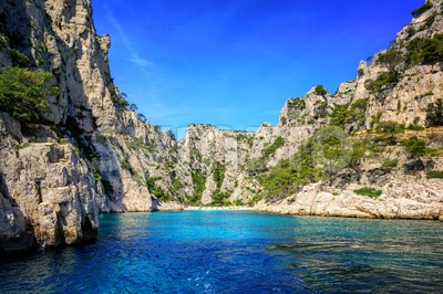 Calanque d'En Vau near Marseilles, France Stock Photo