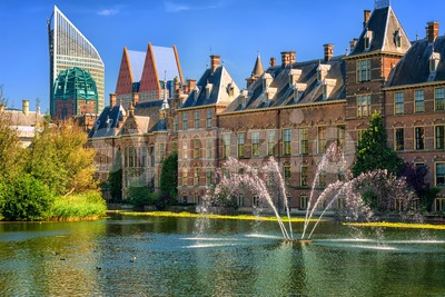 Binnenhof palace, The Hague, Netherlands Stock Photo