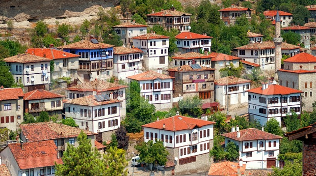 Historical ottoman houses, Safranbolu, Turkey Stock Photo