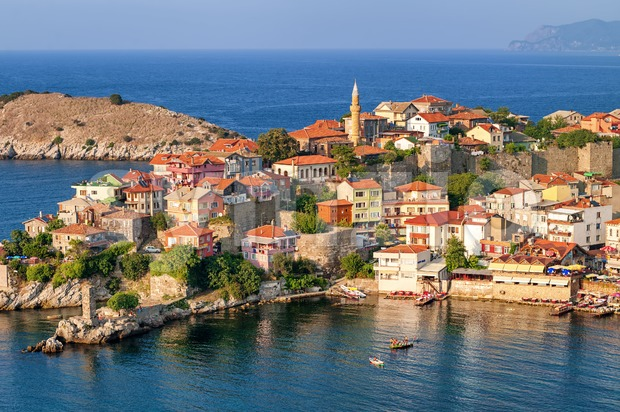 Amasra resort town, Black Sea Coast, Turkey Stock Photo