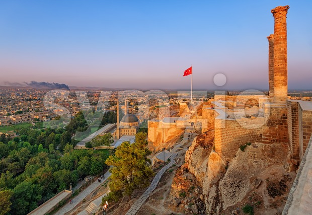 The old castle, Urfa, Turkey Stock Photo