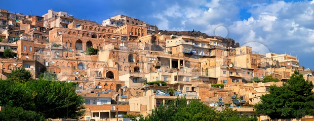Panorama of the old town of Mardin, Turkey Stock Photo