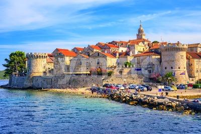 Korcula old town, Dalmatia, Croatia Stock Photo