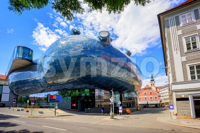 Kunsthaus center in Graz, Austria Stock Photo