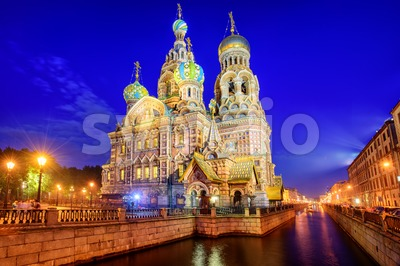 The Church of the Savior on Blood, St Petersburg, Russia Stock Photo