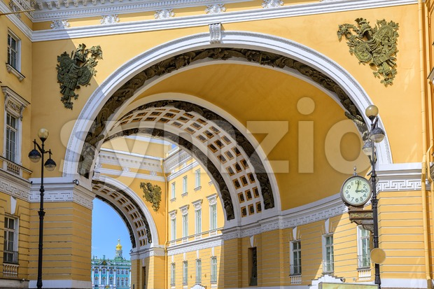 The arch of General Staff, St Petersburg, Russia Stock Photo