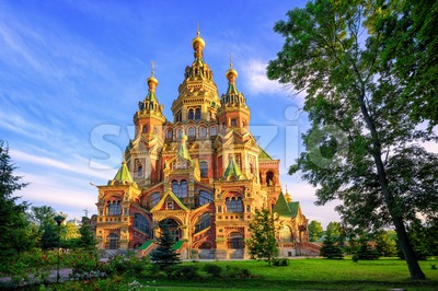 Russian orthodox church, St Petersburg, Russia Stock Photo
