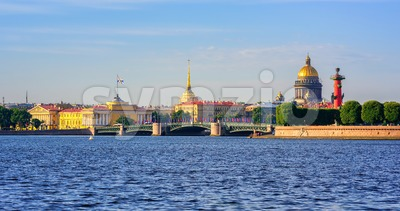 Panorama of St Petersburg, Russia Stock Photo