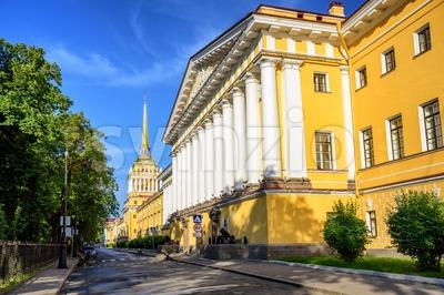 Admiralty Building, St Petersburg, Russia Stock Photo