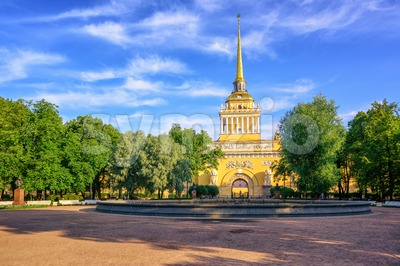 Admiralty Building, St Petersburg, Russia Stock Photo