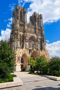 Notre Dame de Reims Cathedral, France Stock Photo
